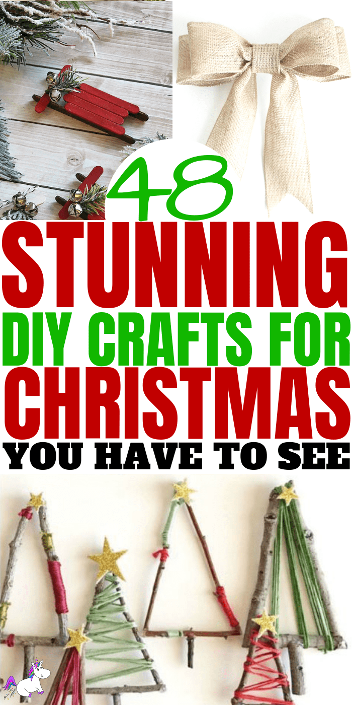48+ Christmas Crafts That Are Stunning! Whether youy're looking for gift wrappinfg ideas, christmas tree decorations or handmade Christmas gifts, you'll find the best ideas for you on this page! | festive decorations | Festive crafts | Via: https://themummyfront.com | DIY christmas | Christmas decor | #themummyfront #christmasdecor #christmascrafts #christmascraftsdecorations #christmascraftsforkids #christmascraftstosell #christmasdecor #christmastree