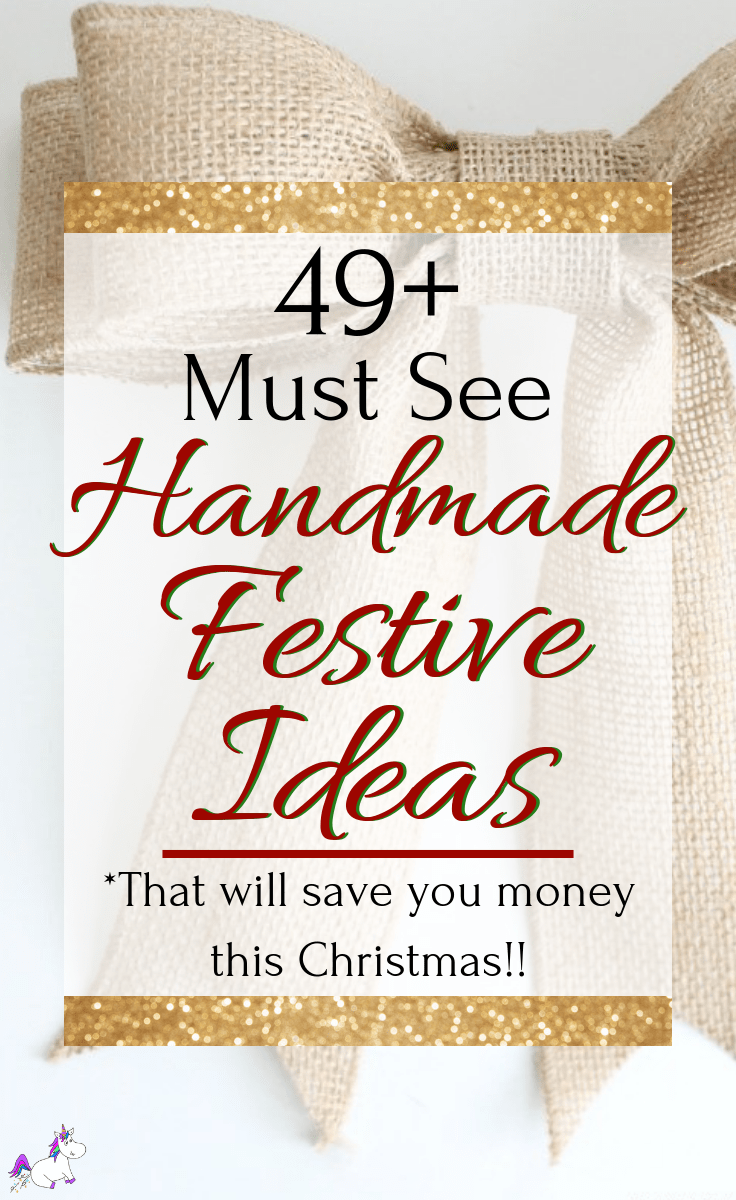 48 Stunning Handmade Christmas Ideas To Make Your Home Look Festive | DIY Christmas | Holiday Crafts | Christmas Ideas | Via: https://themummyfront.com | Festive Crafts | Gift Wrapping Ideas #christmascrafts #diychristmas #christmasonabudget #festivecrafts #themummyfront #holidaycrafts #christmasdecor #festivehomedecor