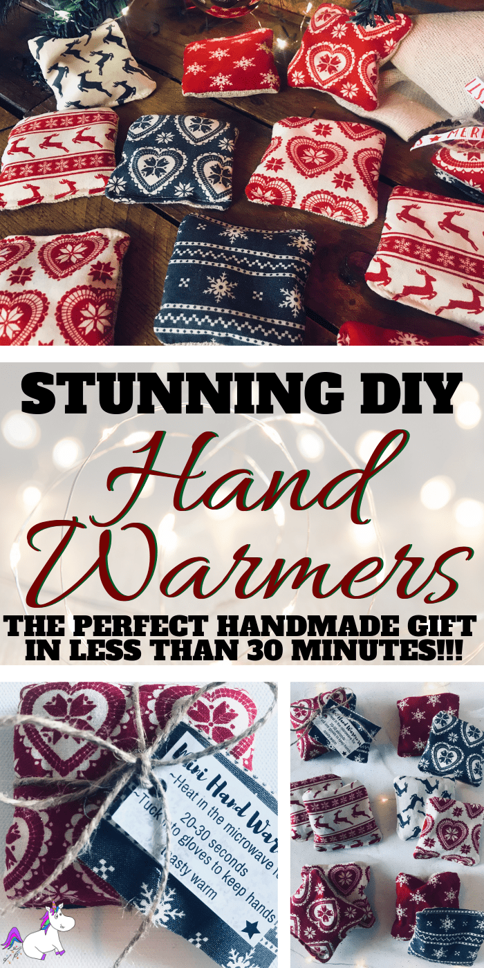 The perfect DIY Gift Idea That Costs Less Than $2 To Make... DIY Hand Warmers in less than 30 minutes | Handmade gift idea | Christmas gift idea via https://themummyfront.com | #ditchristmasgift #christmascrafts #handmadechristmasgifts