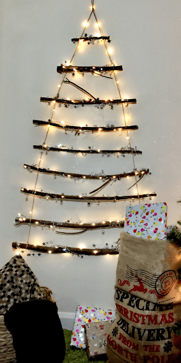 Simple Twig Christmas Tree You Can Make In 30 Minutes The Mummy Front