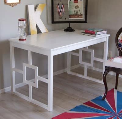 This stunning desk is one of the easiest Ikea desk hacks to try