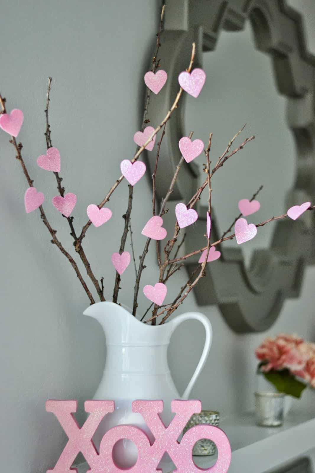 14 Stunning Valentine's Day Decoration Ideas you Will Seriously Fall In Love With This Year! #valentinesdaydecorationideas #valentines #valentinesdaycrafts #valentinesdecor Valentines decor for the home, valentines twig tree