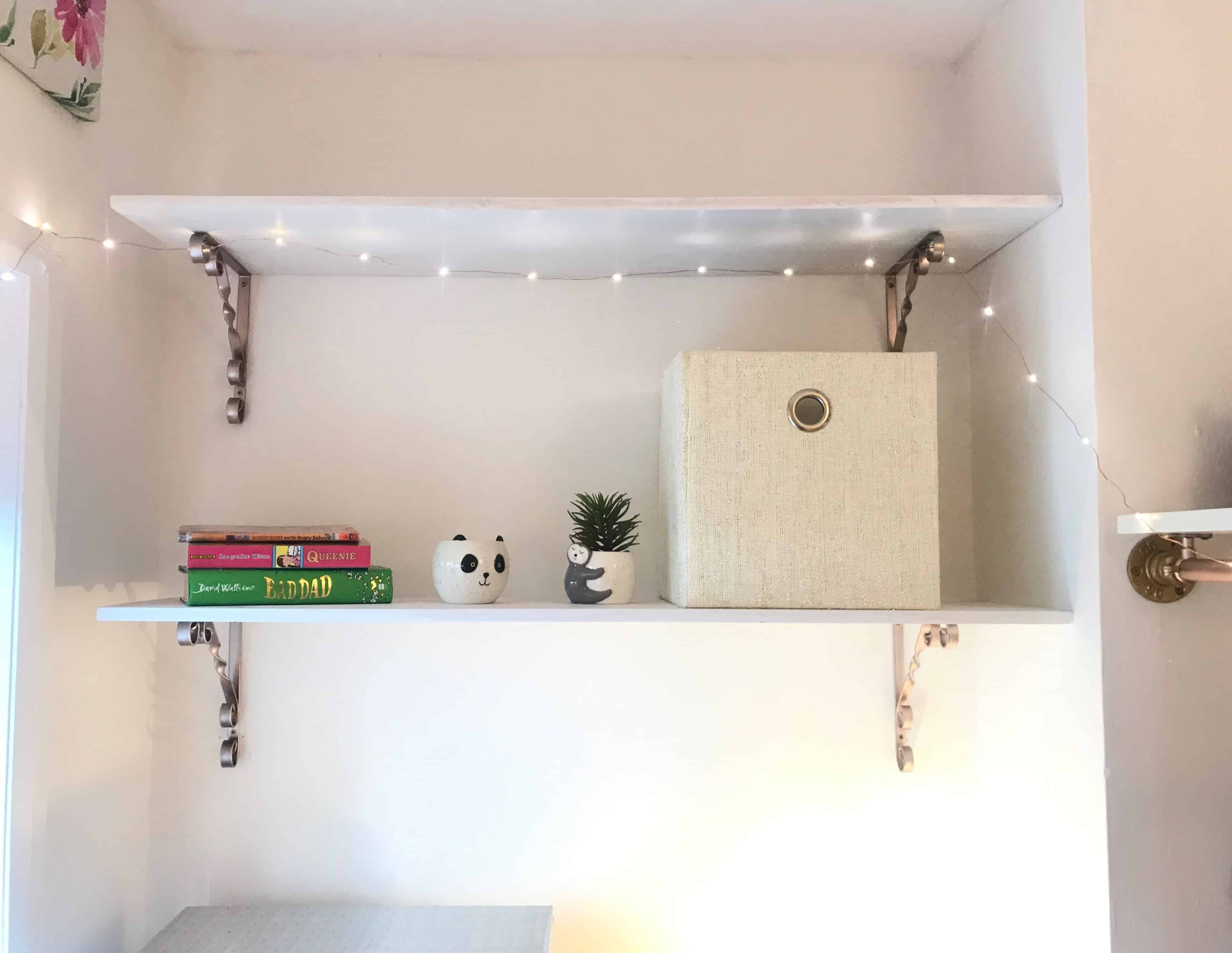 bedroom storage shelves