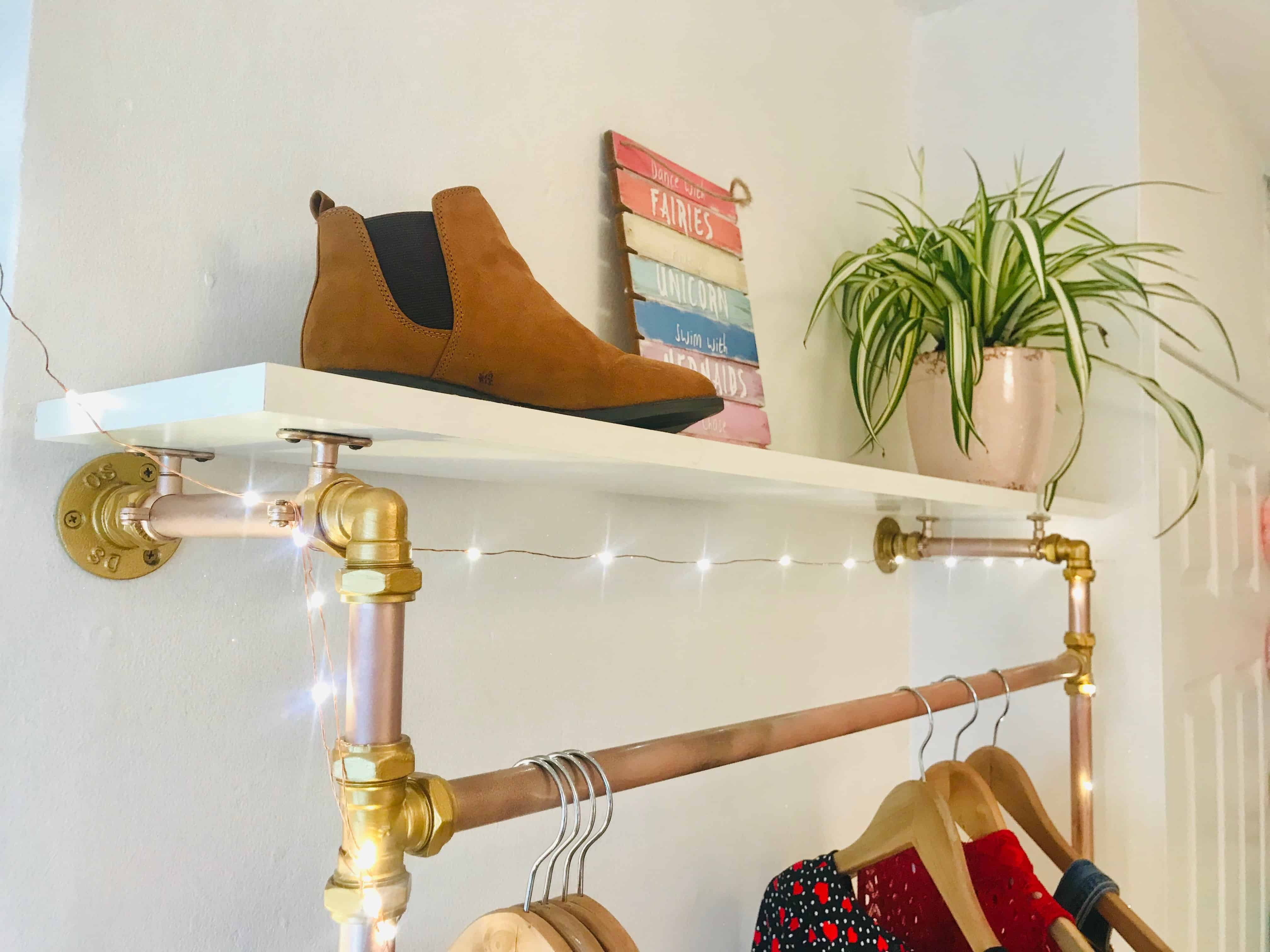 DIY Industrial Clothes Rail