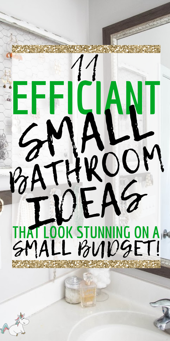 11 Efficient Small Bathroom Ideas That Look Stunning On A Budget | Don't miss these small bathroom decor idea that will transform & streamline your bathroom organization in no time! #smallbathroomideas #smallbathroomdesigns #smallbathrooms #bathroomideas #bathroomorganization #themummyfront