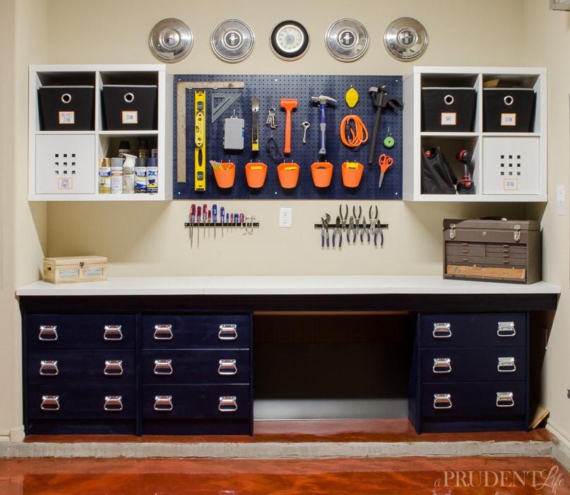 Ikea Kallax and Peg Board Garage Storage Solution