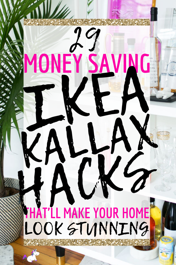 29 Awesome IKEA Kallax hacks for you can DIY on a budget. These kallax hacks are great for your entryway, kitchen, bedroom, Tv stand, coffee bars, dining bench & more Via: https://themummyfront.com #ikeakallax #ikea #kallaxhacks #themummyfront #ikeahacks #creativehomedecor #homedecoronabudget