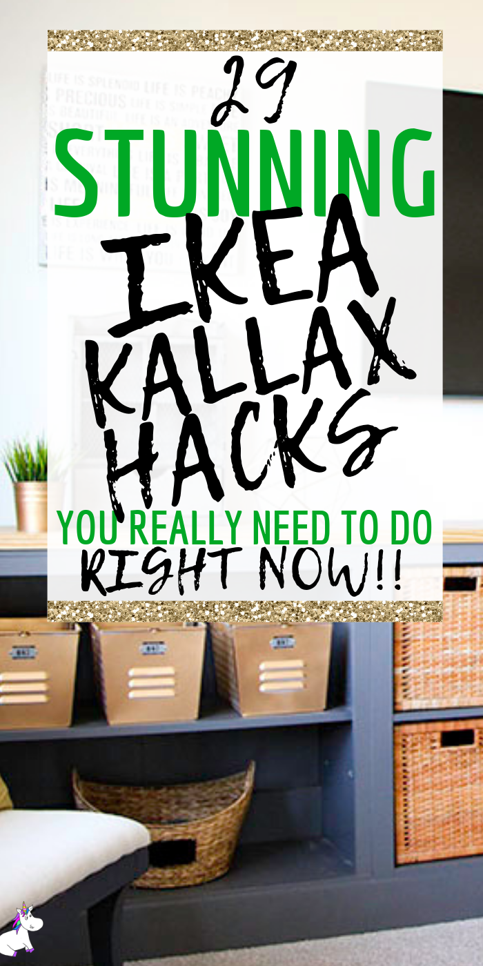 29 Money Saving Ikea Kallax Hacks You Need To Do Right Now | Ikea hacks | DIY ikea furniture | Bedroom Decor | Kitchen decor | Home decor inspiration #ikeahack #ikeahacks #ikeakallaxhacks
