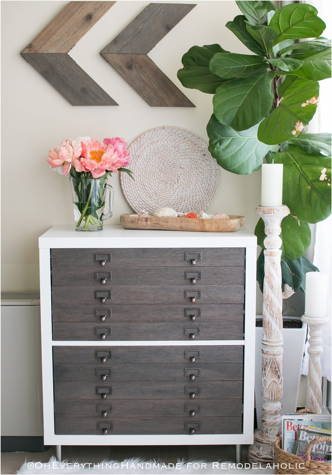 Ikea Flat Filing Cabinet Tutorial & Video