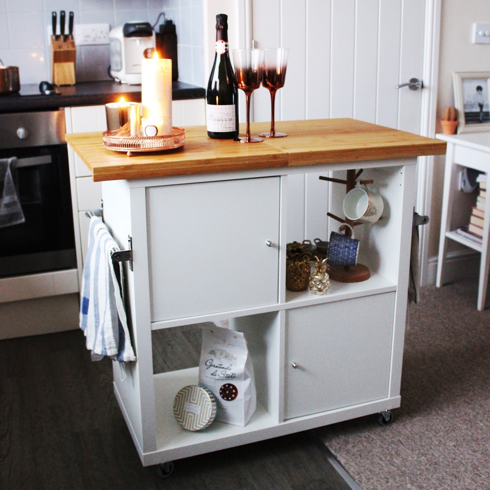 Kitchen Island Ikea Kallax Hack