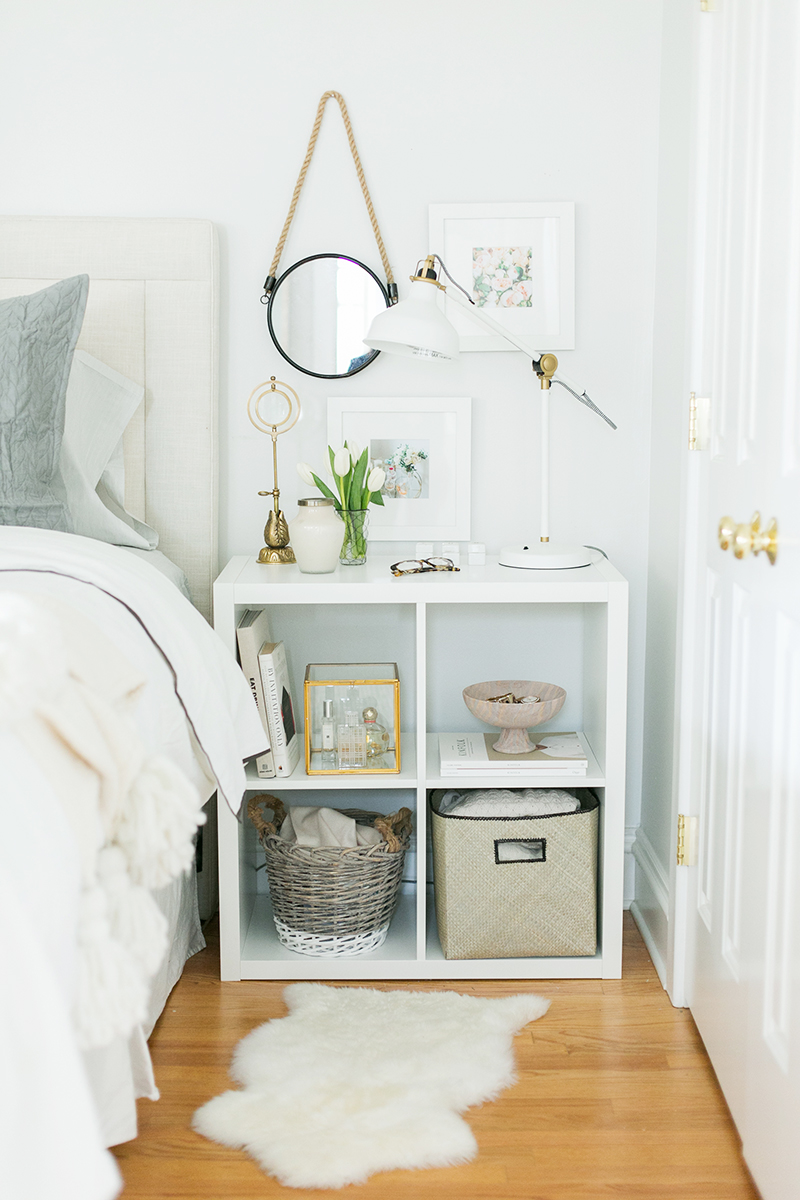 Modern Kallax nightstand & bedroom storage