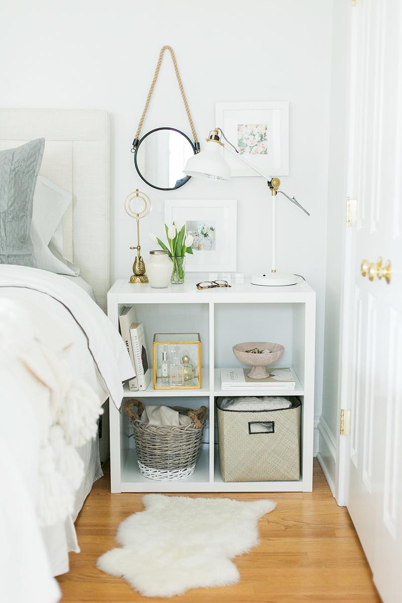 Modern Kallax nightstand & bedroom storage