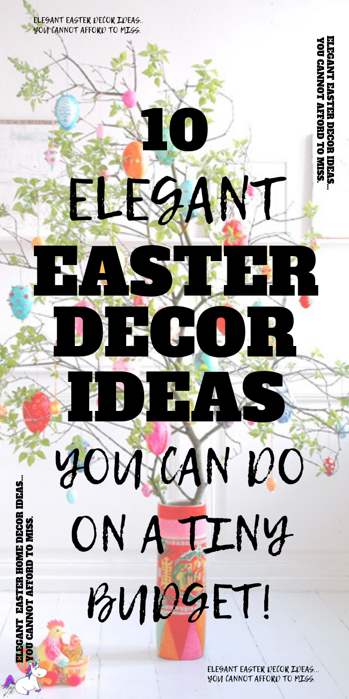 10 Stunning DIY Easter Decor Ideas You Can DIY On A Small Budget, If you're looking to decorate your home for Easter then give these easy Easter decorations You Can DIY this spring! #easterhomedecor #diyeasterdecor #springhomedecor #easterdiy #easterdecorations #easterdecor #creativediyideas