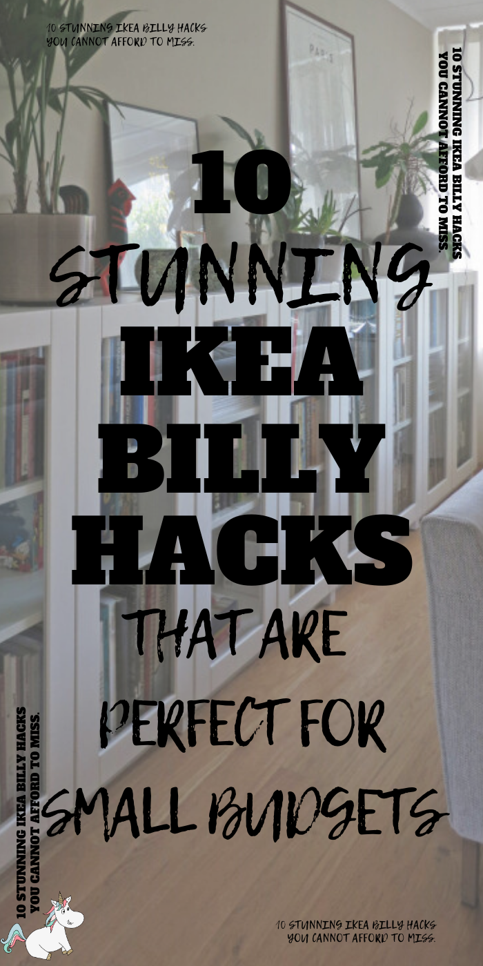 10 Must Try Ikea Billy Hacks That Will Save You Money! If you want to organize your home one a budget then look no further than these stunning Ikea Hacks that make use of the Billy Shelves... you'll have all the home storage solutions you need! #ikea #ikeahacks #ikeafurniture #ikeafurniturehacks #ikeastorage