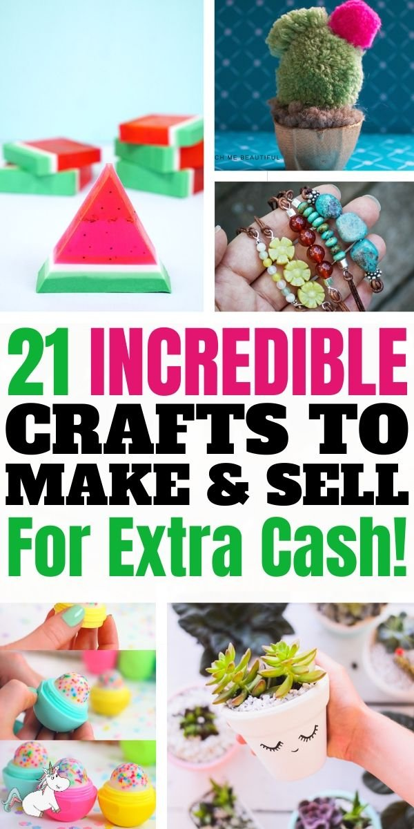 21 Incredible Crafts to Make and Sell For Extra Cash! If you're on the hunt for some unique crafts to make and sell then look no further than these brilliant DIY crafts to make and sell that are all cheap and easy to do! Whether you want to sell crafts online or at a local crafts fayre, you'll find the best crafts to make sell ideas in this post, so check it out! #crafts #craftstomakeandsell #themummyfront