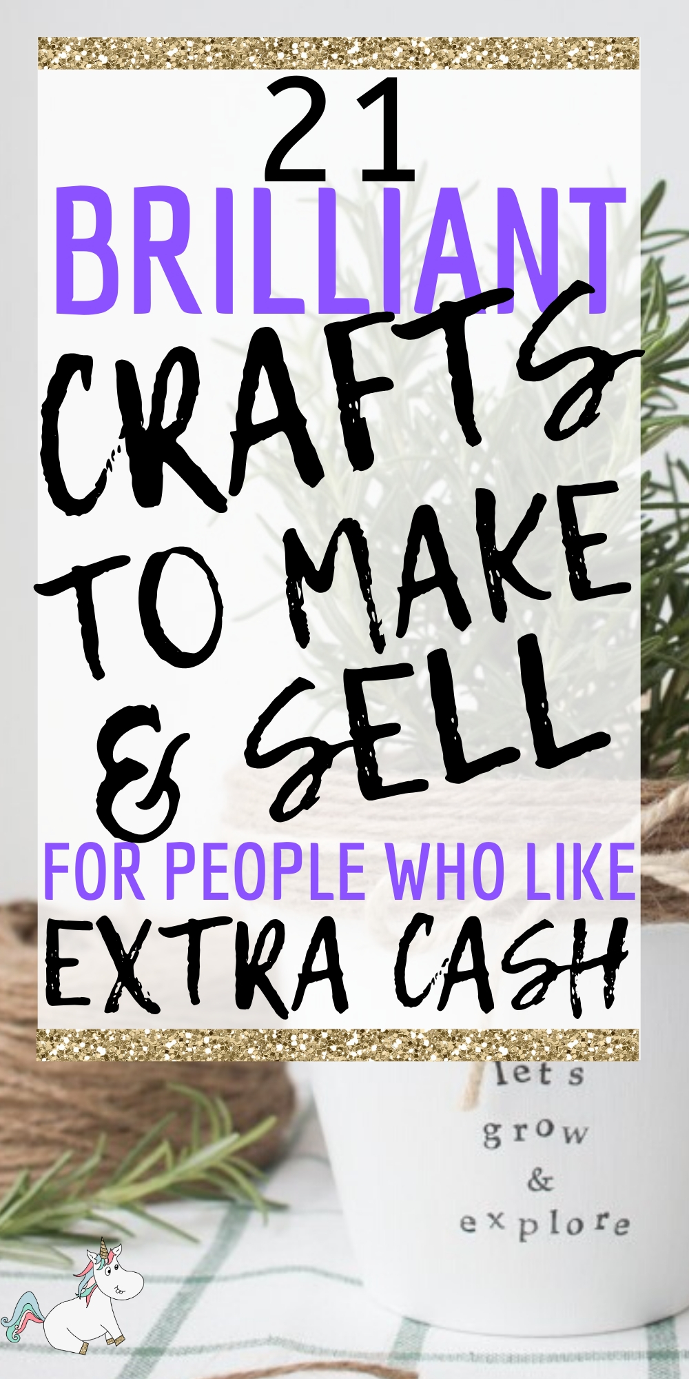21 Unique and Easy Crafts to make and sell for Extra Cash (Updated for 2020) Looking to make more money from homw ith your crafts? Then look no further than these fantasic crafts ideas you can make and sell either at your local crafts fair or online! #easycraftstomakeandsell #uniquecrafts