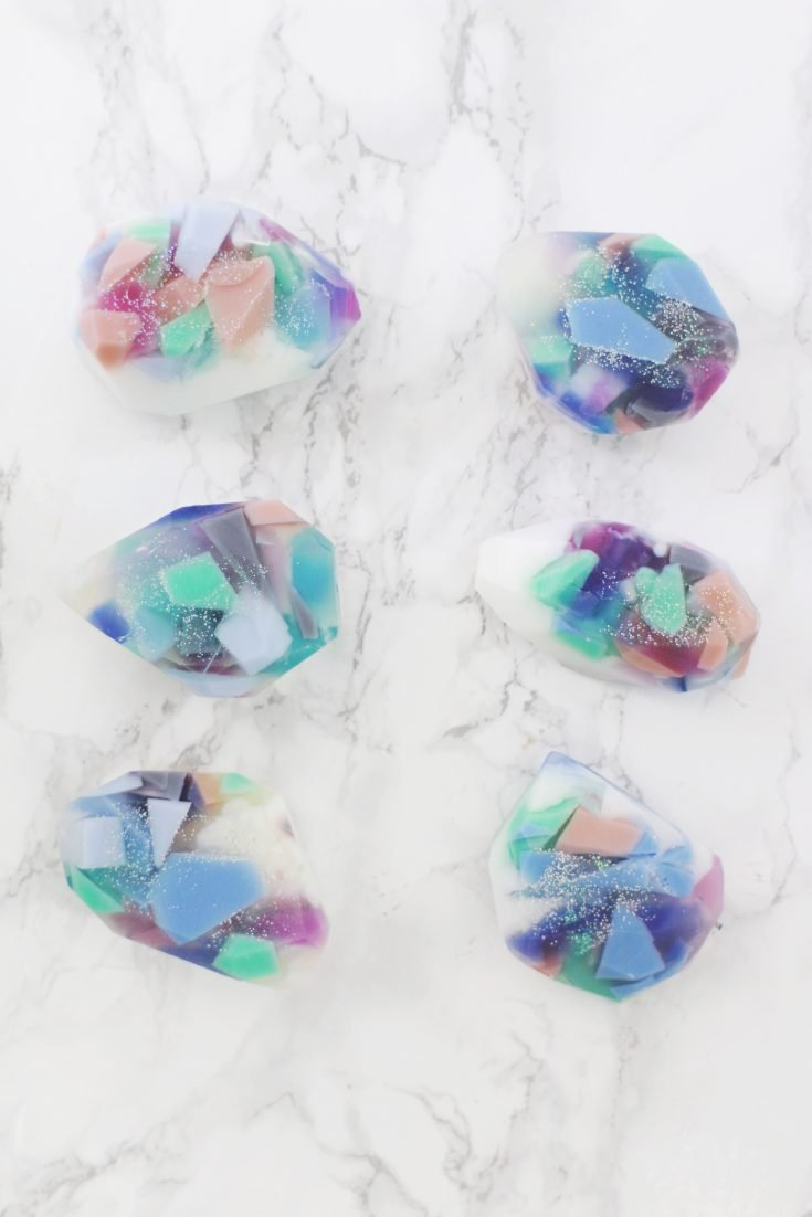 Gemstone Soap DIY (Two Ways!)