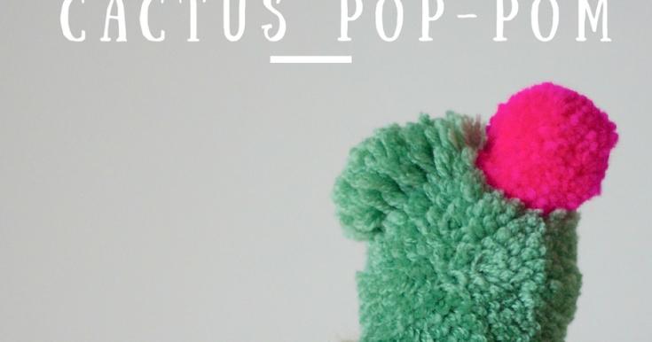 Fun With Pom Poms // Lets Make A Cactus...