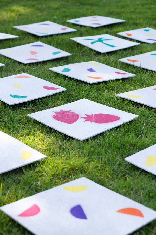 DIY Giant lawn matching game to play at your summer party