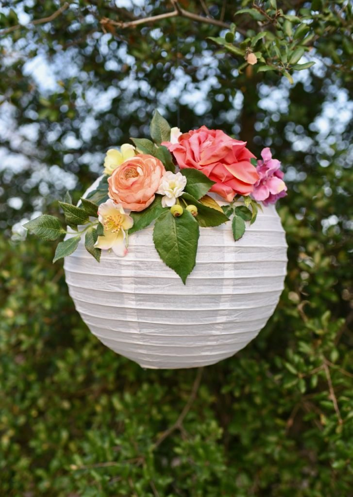 stunning DIY flower paper lantern party decoration idea