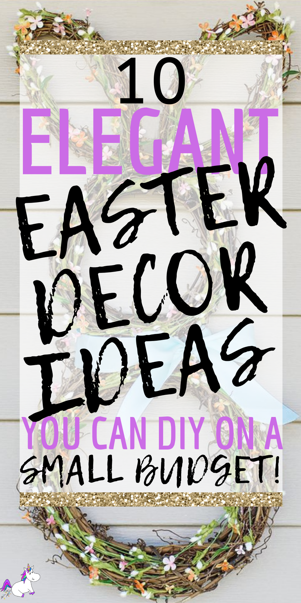 10 Stunning DIY Easter Decor Ideas You Can DIY On A Small Budget, If you're looking to decorate your home for Easter then give these easy Easter decorations You Can DIY this spring! #easterhomedecor #diyeasterdecor #springhomedecor #easterdiy #easterdecorations #easterdecor