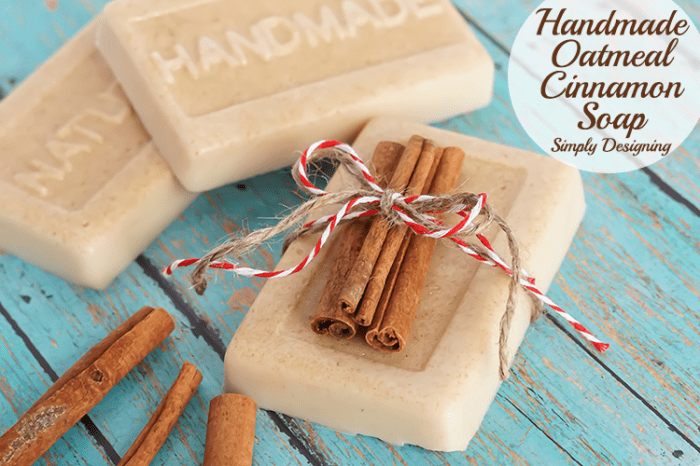 How to Make Soap - An Easy Recipe with Cinnamon and Oatmeal
