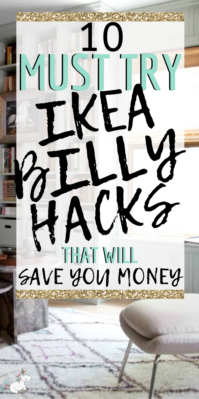 10 Must Try IKEA Billy Bookcase Hacks That Will Save You Money! If you want to organize your home one a budget then look no further than these stunning Ikea Hacks that make use of the Billy Shelves... you'll have all the home storage solutions you need! #ikea #ikeahacks #ikeafurniture #ikeafurniturehacks #ikeastorage #homestorage #creativehomedecor