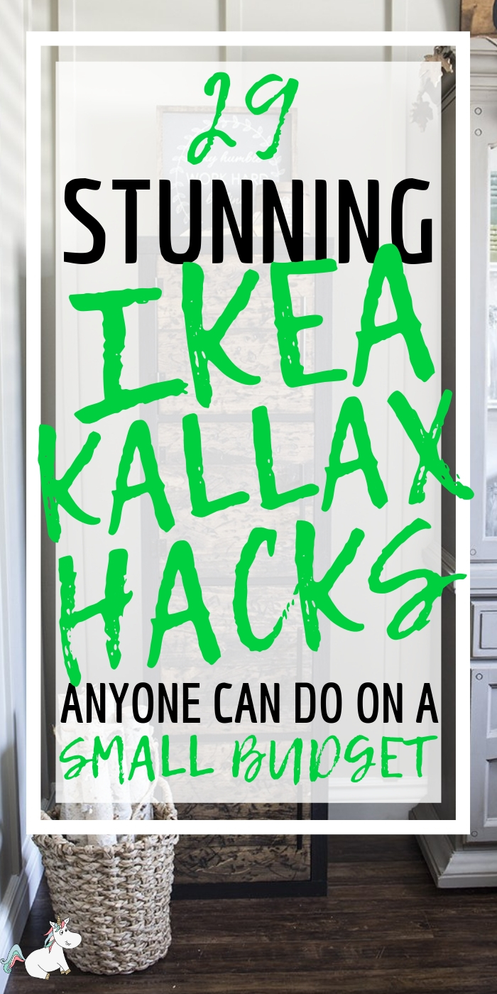 29 Money Saving Kallax Ikea Hacks! If you're looking for DIY Home decor on a budget you will love these ikea kallax hacks that are perfect for your bathroom, kitchen, entryway, bedroom & more! #ikeakallaxhacks #ikeahacks #ikeahack #ikea