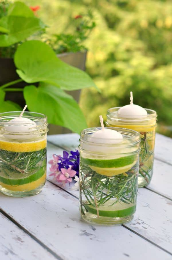Beautiful Natural Bug Repellant Luminaries! Perfect DIY luminaries for your summer gathering #summerparty #diypartydecor
