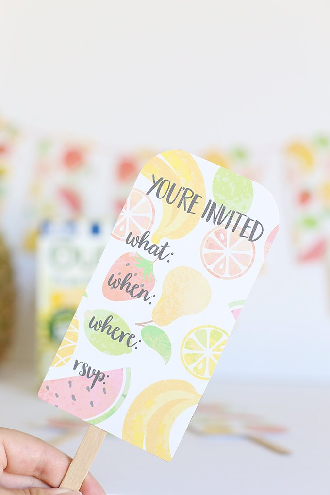 cute popsicle party invitations #summerpartyideas