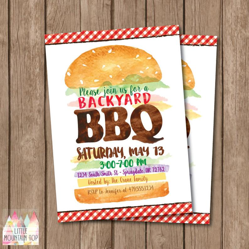 BBQ Party Invites for a summer party