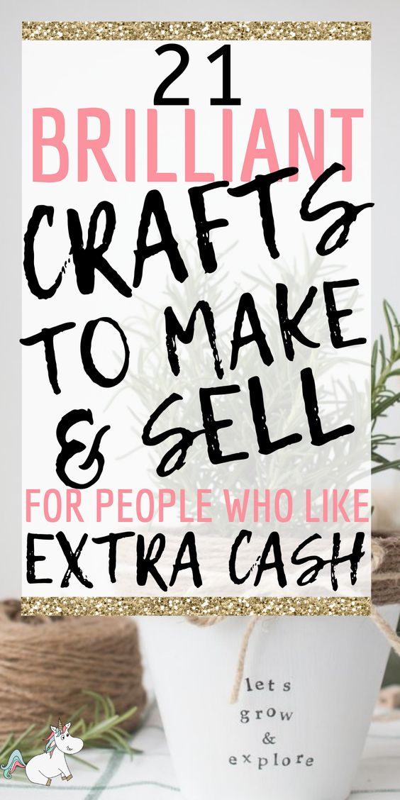 21 Brilliant Crafts To Make And Sell For Extra Cash In 2020 | The Mummy Front Looking for easy crafts to make and sell? Try one of these simple DIY projects that sell well online & start turning your hobby into a profitable business! #craftstomakeandsell #easycraftstosell #makemoneyfromhome
