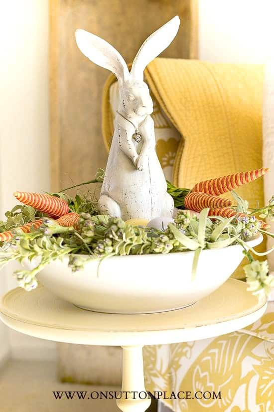 DIY Easter Bunny Nest Centrepiece