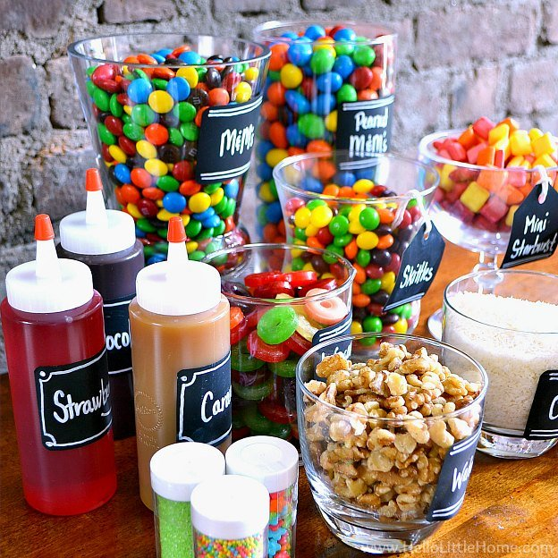 DIY Ice Cream Bar #icecreambar #gardenparty