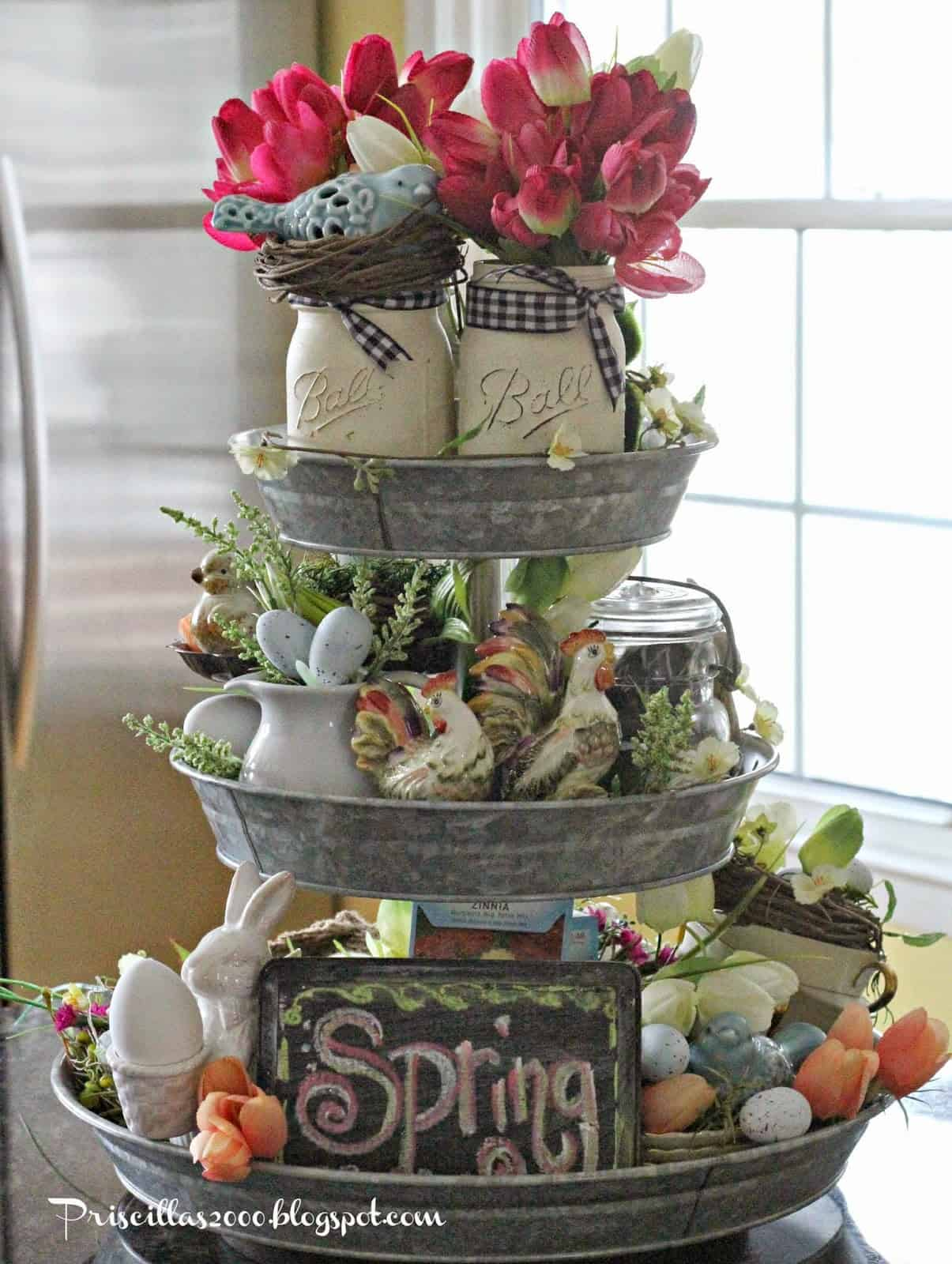 Easter Centrepiece Idea perfect Spring Home Decor