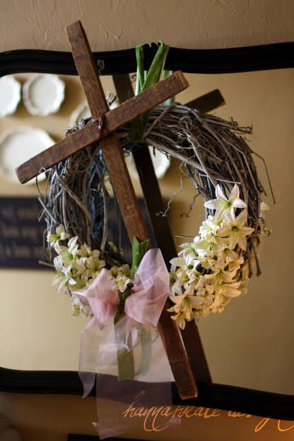 Rustic Easter Cross Wreath You Can DIY