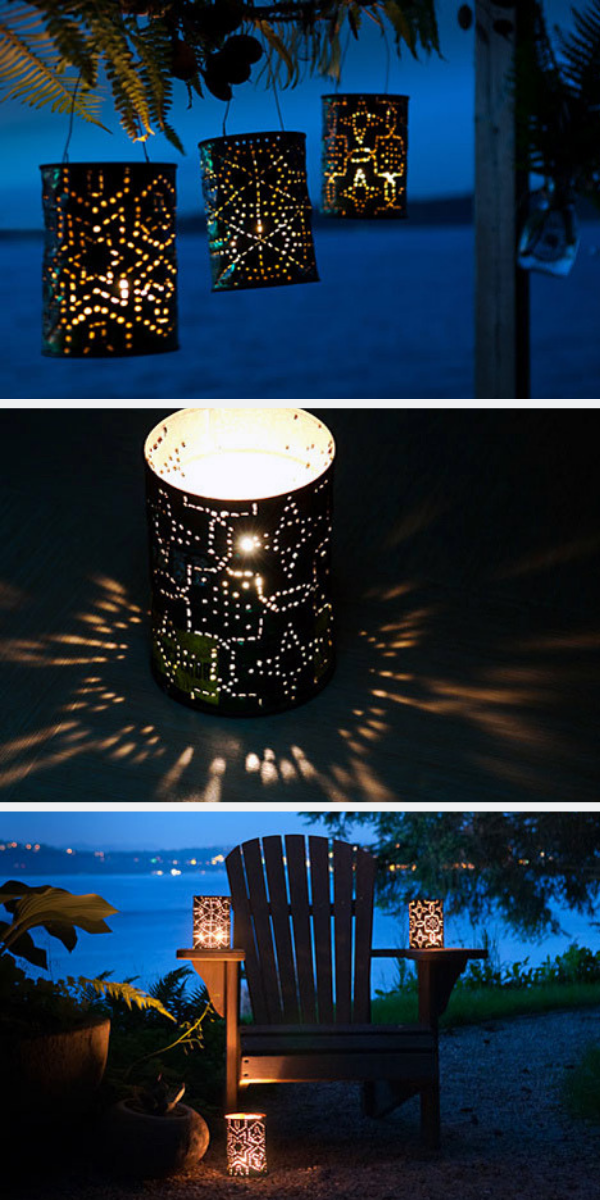 Stunning garden lanterns, perfect garden lighting idea for a summer party