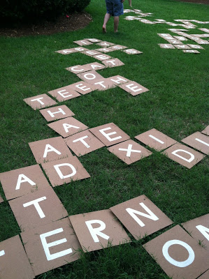 Giant lawn scrabble party game! This summer party game will be so much fun!
