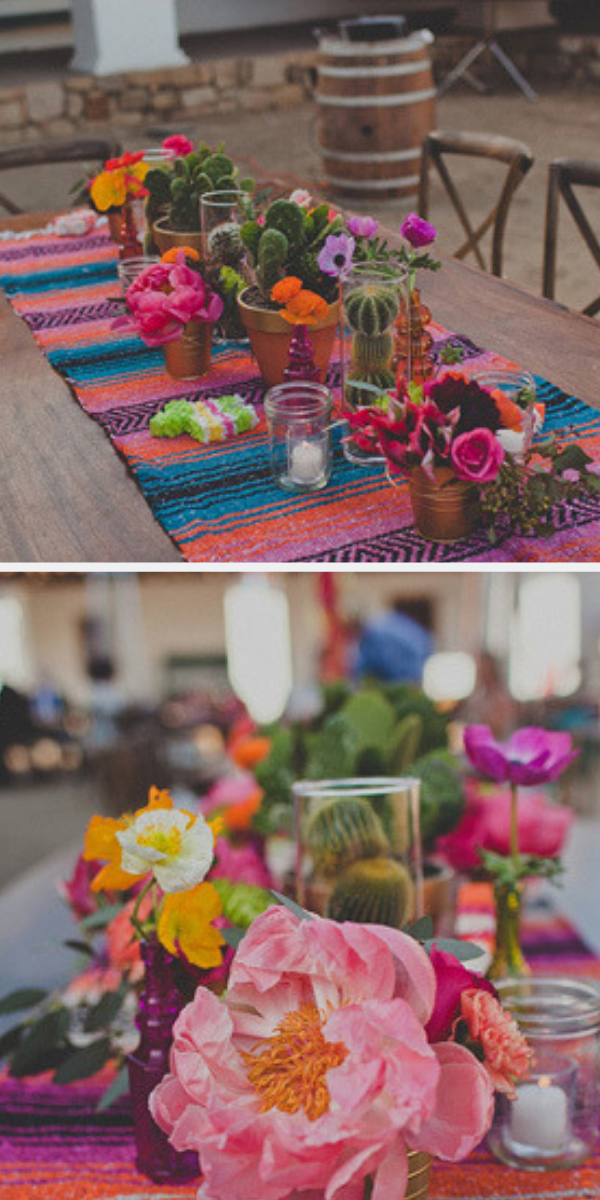 mexican themed party setting | Great summer party idea