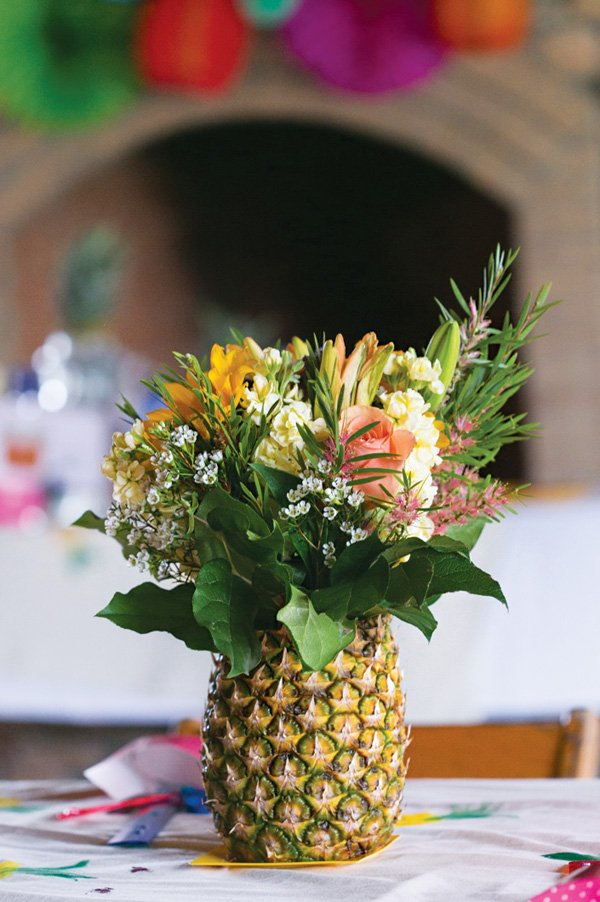 pineapple centerpiece for a stunning summer party