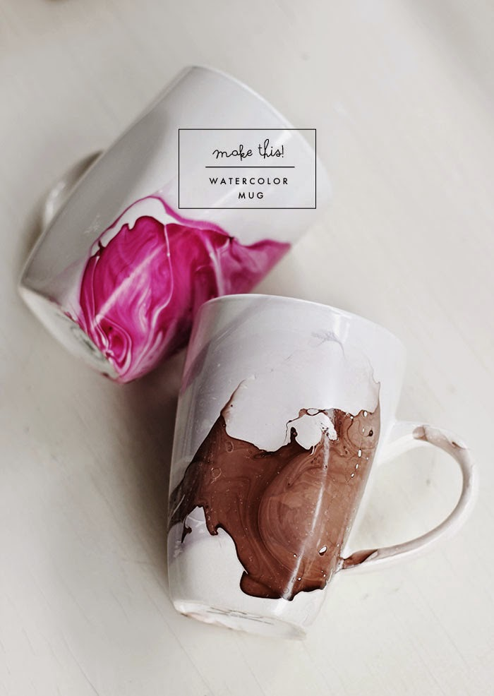 DIY | Watercolor Mug