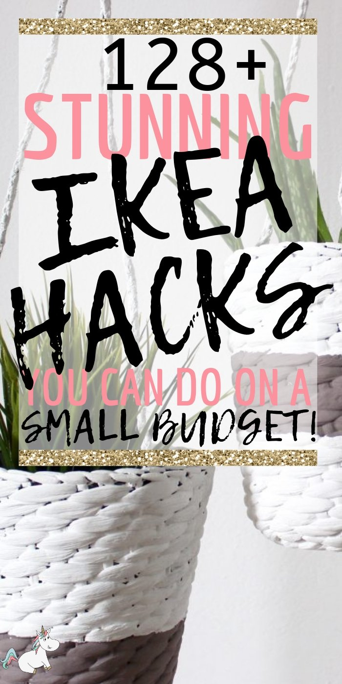 118 Money Saving Ikea Hacks To DIY You Wont Want To Miss! These Ikea Hack Ideas are perfect if you love DIY home decor on a budget! #ikea #ikeahacks #ikeahack #homedecoronabudget