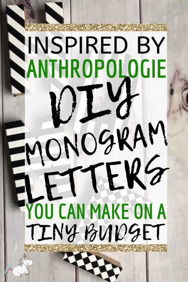 DIY Monogram Letters inspired by Anthropologie, If you love creative home decor on a budget you will love this easy craft idea