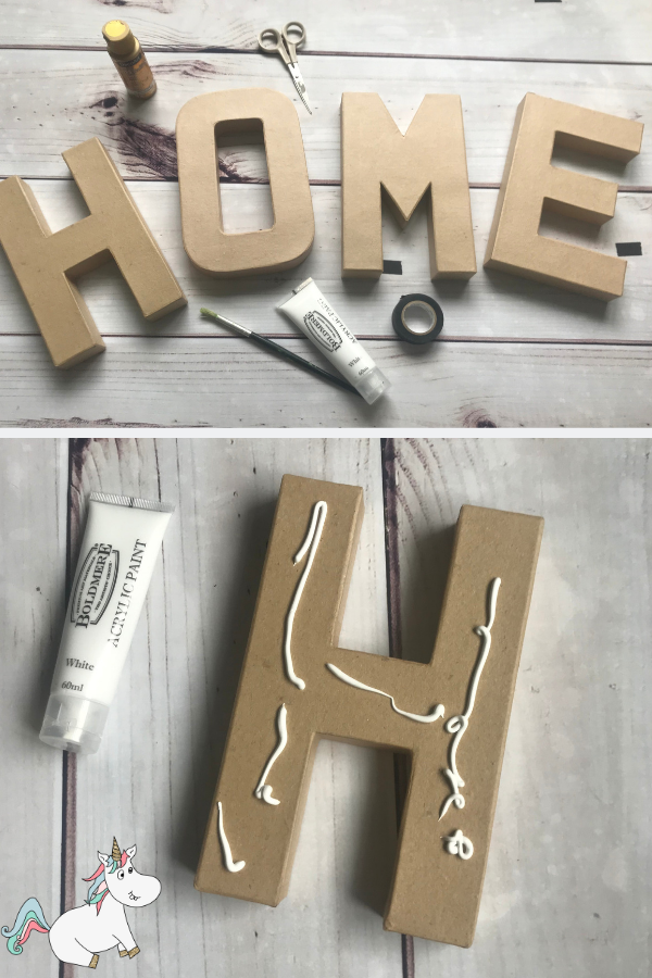 Cheap and Easy DIY Monogram Letters... A Brilliant Anthropologie Knockoff You Can Actually Do! These Monogram letters will be a great addition to your home decor or give them to someone you love as a great DIY Gift Idea!