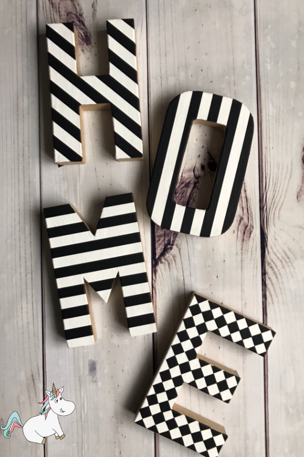 Cheap and Easy DIY Monogram Washi Tape Letters... A Brilliant Anthropologie Knockoff You Can Actually Do! These Monogram letters will be a great addition to your home decor or give them to someone you love as a great DIY Gift Idea!