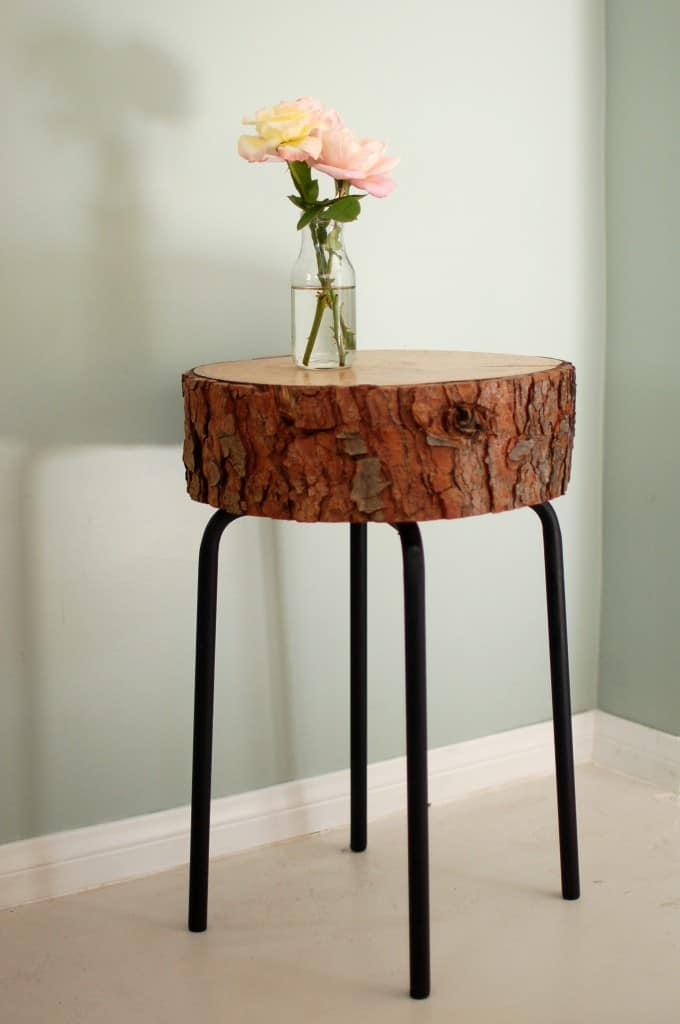 Ikea hack for a stunning side table