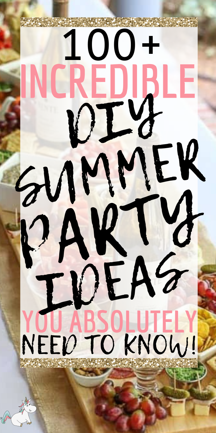 100+ Brilliant DIY Summer Party Ideas you Need To Know! These summer party ideas will ensure your outdoor party is unforgettable! #summerpartyideas #summerparty #outdoorparty #party #partyideas #bbqpartyideas #themummyfront