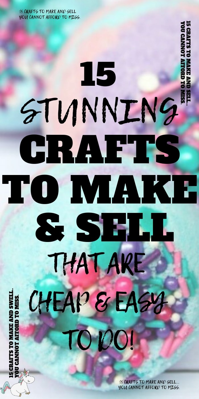 15 Stunning Easy Crafts To Make and Sell For Extra Cash! If you have an online craft business or are looking to start one you'll love these easy crafts to make & sell for profit! They're all cheap crafts that you can do quickly which means you can make money from home quickly! The perfect side hustle idea! Click to check them out! #themummyfront