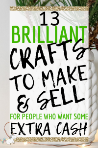 13 Amazing Easy Crafts To Make and Sell For Extra Cash! If you have an online craft business or are looking to start one you'll love these easy crafts to make & sell for profit! They're all cheap crafts that you can do quickly which means you can make money from home quickly! Click to check them out! #themummyfront