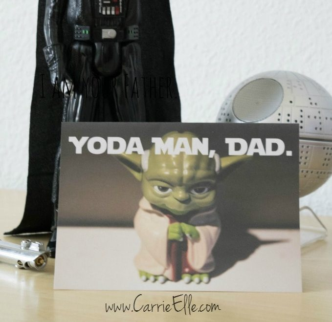 One of the best FREE Printable fathers day cards with a star wars theme